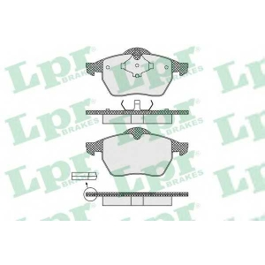 LPR 05P639 Гальмівні колодки, дискові