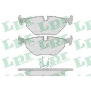 LPR 05P650 Гальмівні колодки, дискові