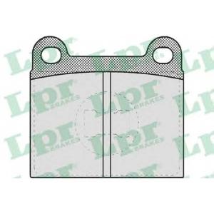 Комплект тормозных колодок, дисковый тормоз 05p659 lpr - AUDI 50 (86) Наклонная задняя часть 1.1
