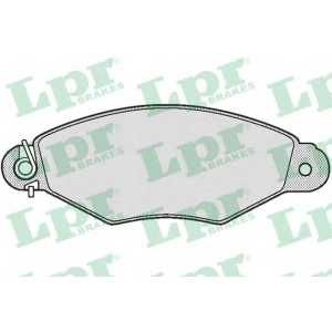 LPR 05P661 Тормозные колодки