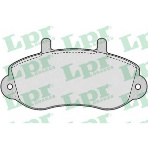 05p663 lpr Комплект тормозных колодок, дисковый тормоз RENAULT MASTER фургон 2.5 D
