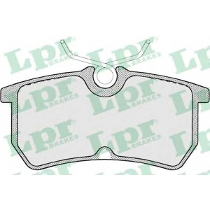 LPR 05P697 Тормозные колодки дисковые