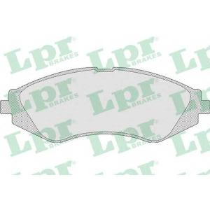 LPR 05P710 Тормозные колодки передние Lanos 1.6i 16V