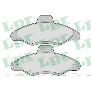 LPR 05P717 Тормозные колодки