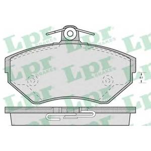 Комплект тормозных колодок, дисковый тормоз 05p718 lpr - SEAT AROSA (6H) Наклонная задняя часть 1.0