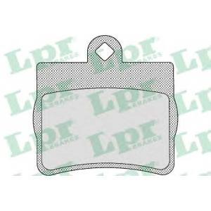 LPR 05P725 Тормозные колодки дисковые