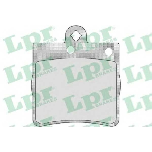 LPR 05P726 Тормозные колодки