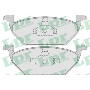 Комплект тормозных колодок, дисковый тормоз 05p730 lpr - VW BORA (1J2) седан 1.6