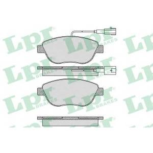 LPR 05P764 Тормозные колодки передние Doblo
