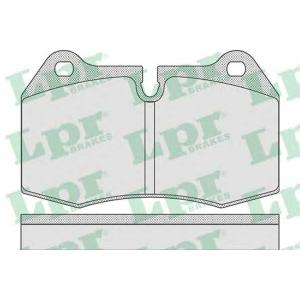 LPR 05P769 Тормозные колодки дисковые