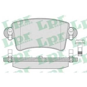 05p791 lpr Комплект тормозных колодок, дисковый тормоз RENAULT MASTER фургон 2.5 D