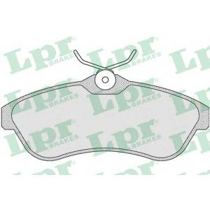 LPR 05P806 Тормозные колодки передние C2/C3 (вент. диски)