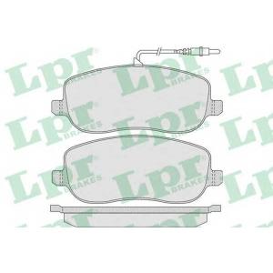 LPR 05P831 Тормозные колодки дисковые