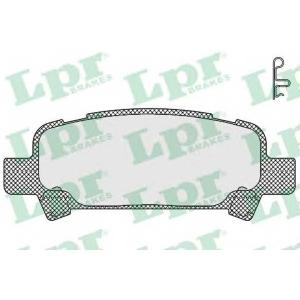 LPR 05P838 Тормозные колодки
