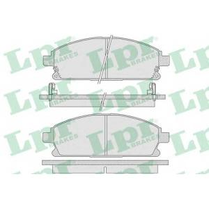 LPR 05P846 Комплект тормозных колодок, дисковый тормоз Инфинити