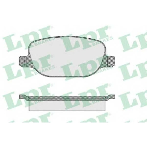 05p855 lpr Комплект тормозных колодок, дисковый тормоз LANCIA THESIS (841AX) седан 3.0 V6 (841AXC1101)
