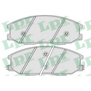 LPR 05P858 Тормозные колодки