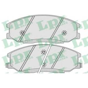 LPR 05P859 Тормозные колодки дисковые