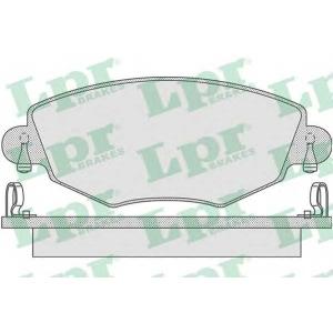 LPR 05P865 Тормозные колодки