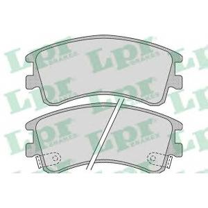 LPR 05P878 Тормозные колодки дисковые