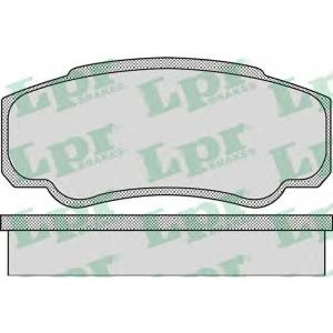 LPR 05P885 Тормозные колодки