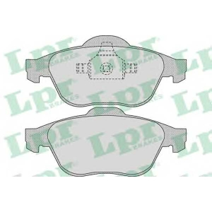 05p898 lpr Комплект тормозных колодок, дисковый тормоз RENAULT LAGUNA Наклонная задняя часть 1.6 16V (BG0A, BG0L)