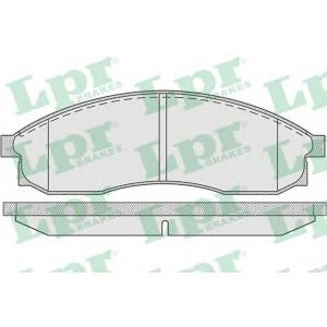 Комплект тормозных колодок, дисковый тормоз 05p942 lpr - NISSAN LAUREL седан 2.5
