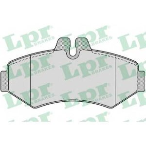 LPR 05P956 Тормозные колодки