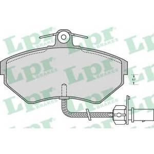 LPR 05P979 Тормозные колодки