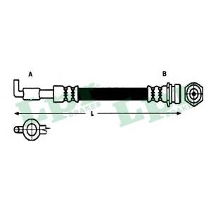 LPR 6T46411 Rubber brake hose