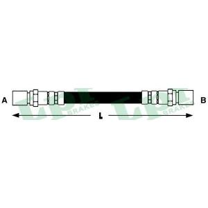 LPR 6T47372 Rubber brake hose