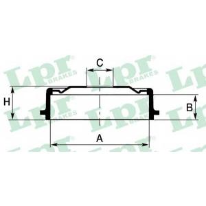 LPR 7D0138 Тормозной барабан Lanos 1,4-1,6 97-(без ступицы)