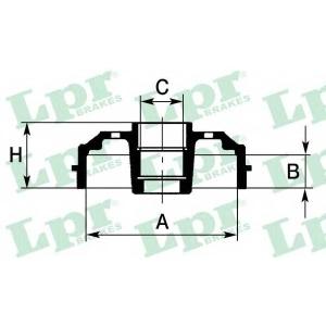 LPR 7D0395 Тормозной барабан