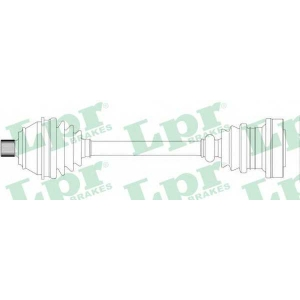 LPR DS51099 Half shaft
