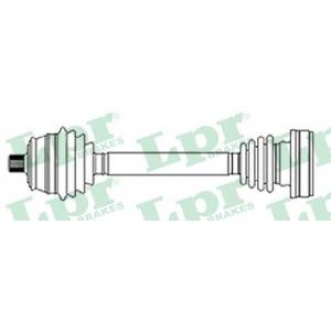 LPR DS51135 Half shaft