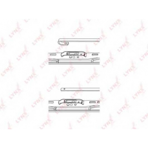 LYNX 530ls Каркасная щетка стеклоочистителя (спойлер) 530мм/21