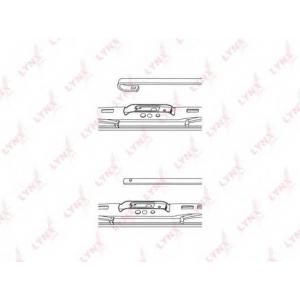 LYNX 550ls Каркасная щетка стеклоочистителя (спойлер) 550мм/22