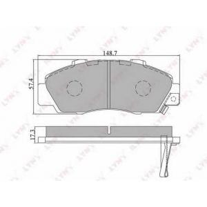LYNXauto BD-3405 Комплект тормозных колодок, дисковый тормоз Акура Нсх