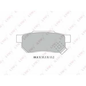 LYNXauto BD-3428 Комплект тормозных колодок, дисковый тормоз Акура