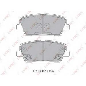 LYNXauto BD-3623 Комплект тормозных колодок, дисковый тормоз Хюндай
