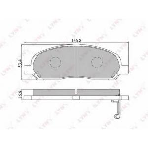 LYNX bd-5510 Колодки тормозные передние