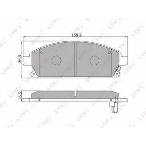 LYNXauto BD-5704 Комплект тормозных колодок, дисковый тормоз Инфинити Кью-Икс 4