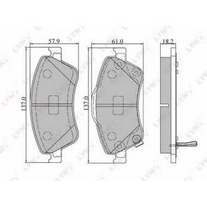 LYNX bd-7546 Колодки тормозные передние