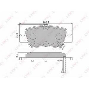 LYNX bd-7547 Колодки тормозные задние