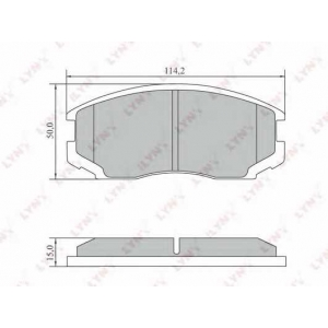 LYNXauto BD-7553 Комплект тормозных колодок, дисковый тормоз Дайхатсу Астраи