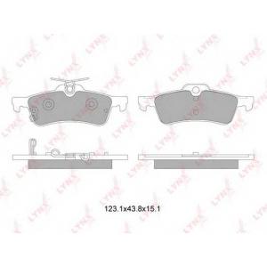 LYNX bd-7600 Колодки тормозные задние