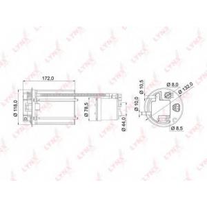 LYNX lf-985m Фильтр топливный погружной