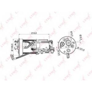 LYNX lf-986m Фильтр топливный погружной