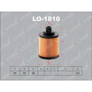 LYNX lo-1810 Фильтр масляный