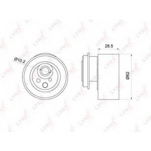 LYNX pb-1045 Ролик натяжной / грм